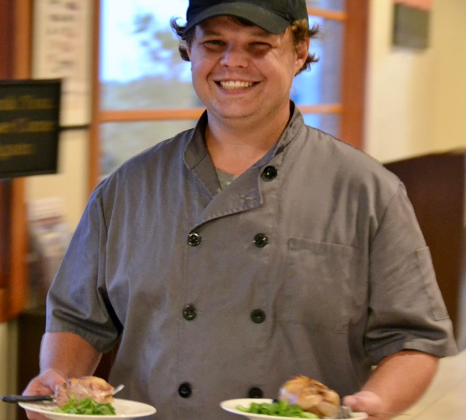 Chef Josh Koewers at Pedernales Cellars