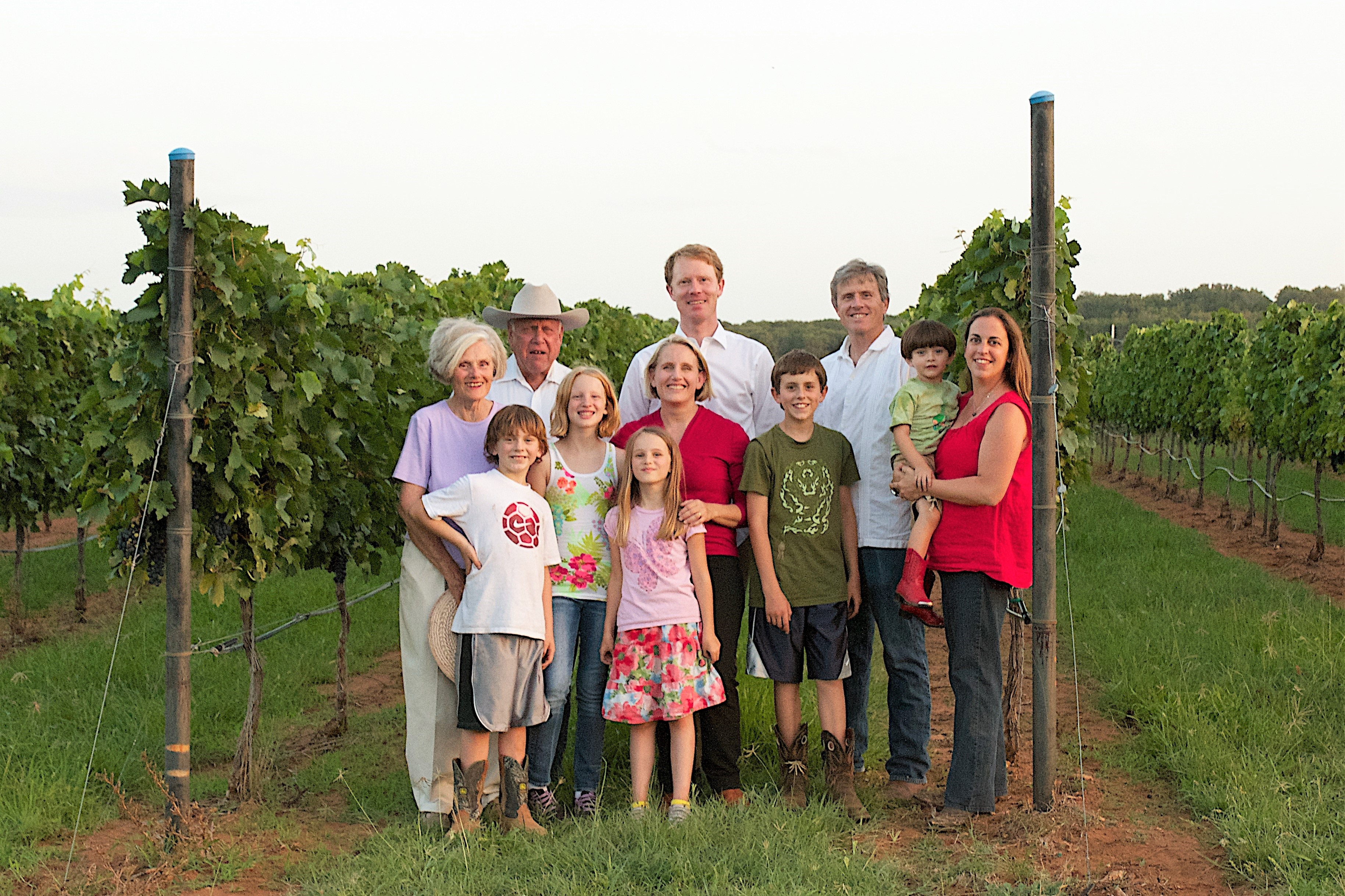 Kuhlken Family in the Estate Vineyard