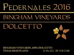 2016 Bingham Vineyards Dolcetto